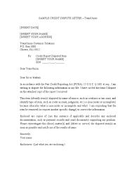 dispute credit report letter template 1105transunion credit dispute letter