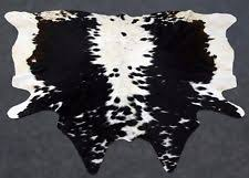 Cowhide Leather Rug Cow Hide Country Leather Fur U0026 Sheepskin Rugs Ebay