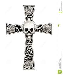 cross tatoo art skull cross tattoo stock illustration image 62328377