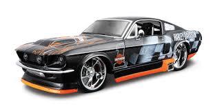 Black Mustang 1967 Ma 32168 03 Harley Davidson 1967 Ford Mustang Gt Metallic Black