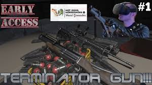 terminator gun dogs horseshoes grenades early