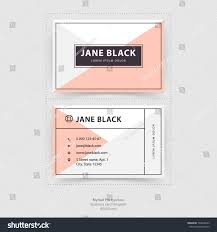 personal business card template minimalistic flat stock vector