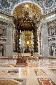 baldacchino by bernini roma basilica di san pietro l altare baldacchino bernini