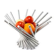metal fruit basket landtom creative stainless steel rotation fruit bowl fruit