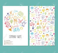country brochure template brochure template with doodle children drawing royalty free