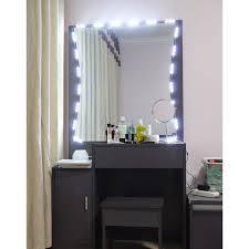 led lighted desk magnifying l light charming lighted vanity mirror wall mount furniture makeup