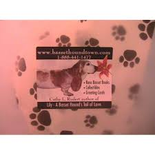 paw print tissue paper bassethoundtown miscellaneous gift bag with paw print