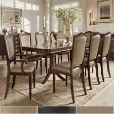 transitional dining room sets lasalle espresso nail accent transitional dining side chairs