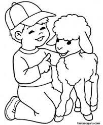 printable farm lamb boy coloring printable coloring