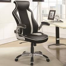 Office Chairs 800048 Office Chair In Black Vinyl By Coaster