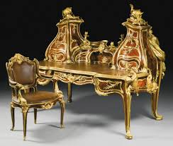 dim up au bureau le grand bureau an important sculptural gilt bronze mounted