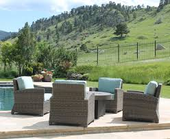 Patio Furniture Set With Fire Pit Table - northcape patio furniture bainbridge club chairs and fire pit
