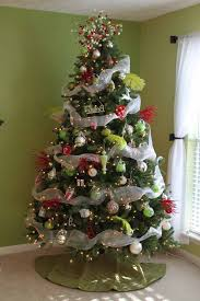 christmas mesh ribbon decorated christmas trees with mesh ribbon pictures reference