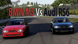 bmw vs audi race forza motorsport 6 drag race bmw m5 e39 vs audi rs6