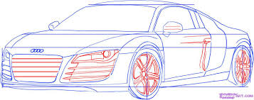 how to draw an audi step by step cars draw cars online