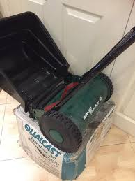 new boxed manual cylinder lawn mower in broadstone dorset gumtree
