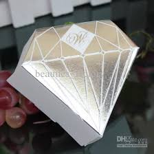 silver party favors silver diamond shaped candy box paper gift jewelry diy boxes