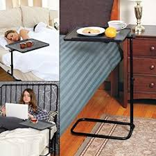 laptop desk for couch amazon com the ultimate swivel bedside adjustable hight table