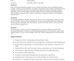 Qa Analyst Resume Sample Test Analyst Sample Resume Resume Samples Analyst Operations Sr