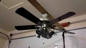 escape 68 in brushed nickel indoor outdoor ceiling fan hton bay ceiling fans escape 68 in indoor outdoor brushed
