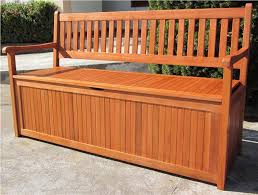 Hardwood Garden Benches Impressive Outdoor Wooden Bench With Storage Diy Outdoor Storage