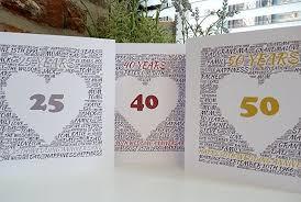 personalised anniversary card 25th 40th 50th 65th wedding