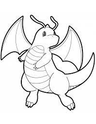 stunning pokemon coloring pages dragonite dragonite