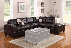 Sectional Sofa And Ottoman Set by Acme 55975 Connell Chocolate Pu Sectional Sofa With Left Chaise