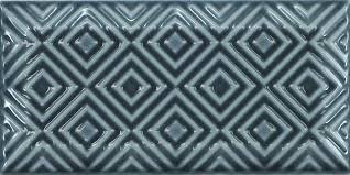 dekorfliese equipe metro paradise dark grey glänzend 7 5x15 cm