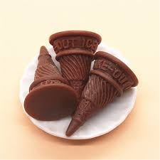 simulation 3d cuisine 10pcs kawaii simulation food 3d chocolate resin cone base