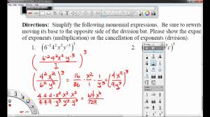 multiplying dividing exponents worksheets worksheet 8 2a simplifying monomials with negative exponents