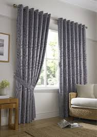 Floral Jacquard Curtains Tivoli Cream Latte Silver Lined Ready Made Eyelet Ring Top Woven