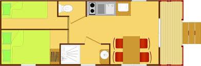 roulotte 2 chambres roulotte de 23m et 4 couchages pour exploitant de gîtes et chambres
