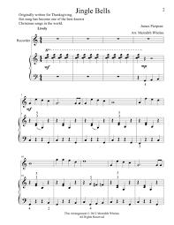 duets for recorder piano jingle bells sheet