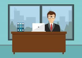 affaires de bureau homme d affaires assis au bureau télécharger des vecteurs gratuitement