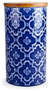 kitchen canisters and jars blue medallion ceramic canister 7 mediterranean kitchen