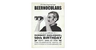 beernoculars vintage birthday invitation zazzle com