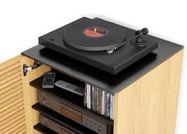 Record Player Storage Corridor Audio Tower Five Elements Furniture