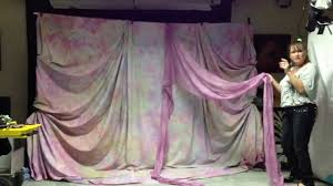 How To Make A Stage Curtain Backdrop Draping Lesson Part 1 Youtube