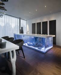 must haves for rich people wow an aquarium instead of conventional kitchen island
