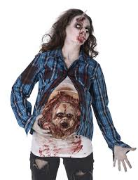 Pregnant Halloween T Shirt by Pregnant Zombie With Zombie Foetus Vegaoo