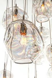 custom blown glass pendant lights pendant lights john pomp hand blown glass infinity pendant 11w blown