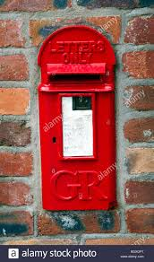 Brick Mailbox Flag Old Fashioned Traditional George V Red Letterbox Built Into A