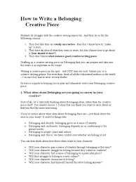Ideas Of What Is The how to write a belonging creative refugee immigration