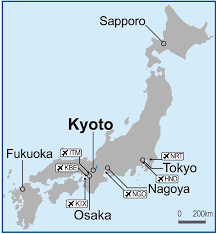 World Map Japan by Kyoto On Map Of Japan U2013 Itfa