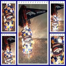 denver broncos wine bottle light by bottlesbeglowing on etsy