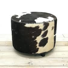 Cowhide For Sale Round Cowhide Ottoman For Sale Square Faux Cube 25289 Interior