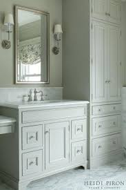 tall linen cabinet for bathroom ivory and gray bathroom features