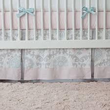Pink And Aqua Crib Bedding Amazon Com Carousel Designs Pink And Gray Rosa 2 Piece Crib