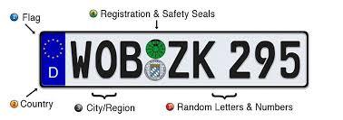 Pa Vanity Plates German License Plate Format U0026 City Region Codes